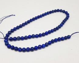 Blue Lapiz Lazuli Necklace | 6mm Beads Crystals | Ladies and Gents Jeweller