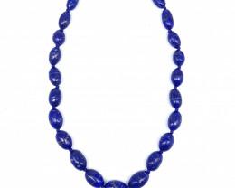 Blue Lapis Lazuli Necklace 296.00 Carats 16 Inch