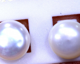 10.05 CTS -PEARL EARRINGS /SILVER    SG-3638