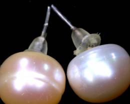 10.05 CTS -PEARL EARRINGS /SILVER    SJ-1261