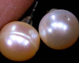 10.05 CTS -PEARL EARRINGS /SILVER    SJ-1266