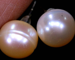 10.05 CTS -PEARL EARRINGS /SILVER    SJ-1270