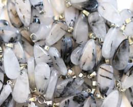 Wholesale 10 pcs Tear Drop Tourmaline Rock Crystal Pendants AHA 785
