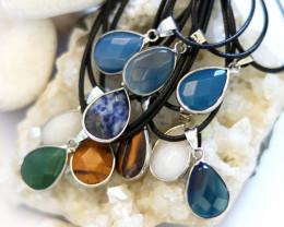 Wholesale 10 pcs popular Faceted Gemstone Pendants AHA 799
