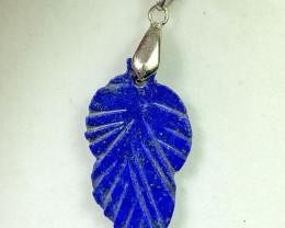 21 carat Blue Lapis Lazuili 925 silver pendant, 32x17x3 mm