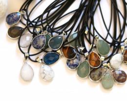 Wholesale 20 pcs popular Faceted Gemstone Pendants AHA 805