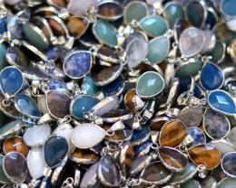 Wholesale 20 pcs popular Faceted Gemstone Pendants AHA 807