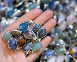 Wholesale 20 pcs popular Faceted Gemstone Pendants AHA 809