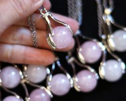 Wholesale 10 pcs Praying Hands Rose Quartz Pendants AHA 833