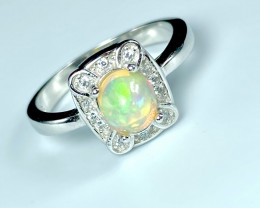 0.67ct.Gorgeous Opal Dramatic Fire.Silver925Ring. DOP240