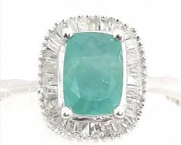Rare Grandidierite and Diamond Ring 1.05tcw.