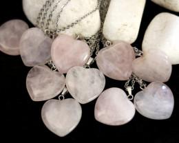 Wholesale 10 pcs Heart Rose Quartz Pendants Natural Rose Quartz AHA 919
