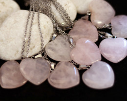 Wholesale 10 pcs Heart Rose Quartz Pendants Natural Rose Quartz AHA 920