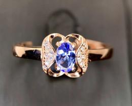 Stunning-Tanzanite-Ring-CZ-925 GP