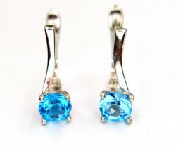 Beautiful Blue Topaz Earrings