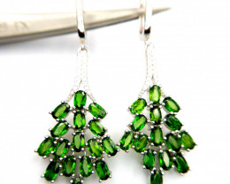 Natural Chrome Diopside Earrings
