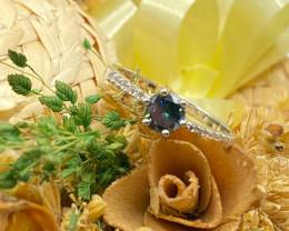 Stylish Natural London BlueTopaz Silver Ring