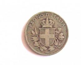 ANTIQUE ITALIAN 1919 R 20 CENTESIMI COIN  / ITALIAN 20 CENT PIECE  CIRCA 19