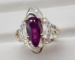 Natural Rare Sapphire 18.50 Carats Ring
