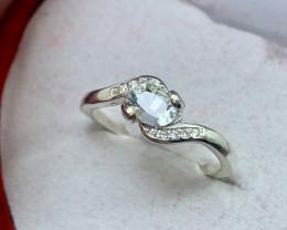 Natural 10.00 Carats aquamarine 925 Silver Ring