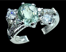 2.50ct. Attractive Certified Paraiba Tourmaline Silver925 Ring.DPT270