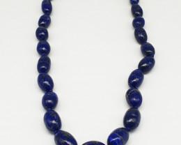 Blue Lapis Lazuli Necklace 260.00 Carats 18 Inch