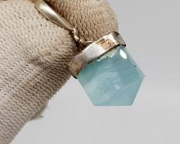 Natural Blue Aquamarine 11.40 Carats 925 Silver Pendant