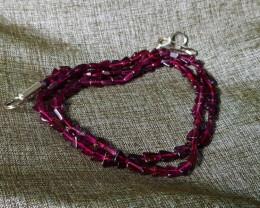 Natural Rhodolite Garnet Necklace 67.00 Carats