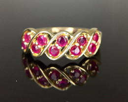 Natural Ruby Gold Ring TCW 1.63.