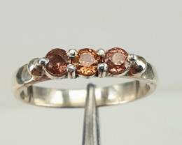 Handmade Natural Brown Sapphire ring