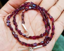 Natural Rhodolite Garnet Necklace 69.20 Carats