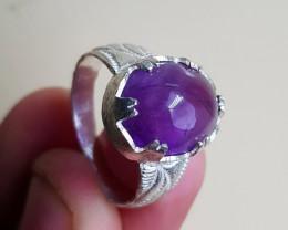 Natural Amethyst 28.20 Carats Hand Made Ring