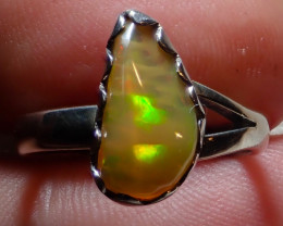 6.25size Natural Ethiopain Welo Opal .925 Sterling Silver