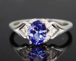 Presenting 10.95 Ct Silver Ring ~ Tanzanite Stone