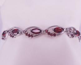 Beautiful Natural Rhodolite Bracelet