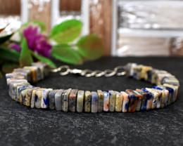 Genuine 122.00 Cts Sodalite Heishi Beads Bracelet