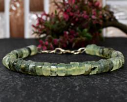 Genuine 110.00 Cts Phrenite Beads Bracelet