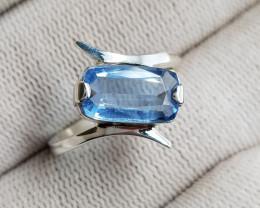 Blue Aquamarine 19.20 Carats Hand Made Ring