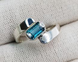 Natural Indicolite Tourmaline 16.65 Carats Hand Made Ring