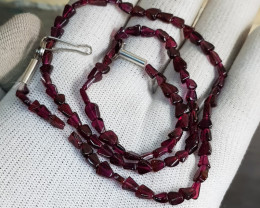 Natural Rhodolite Garnet 68.30 Carats Necklace