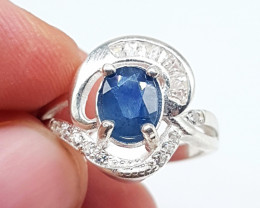 Natural Blue Sapphire Ring 17.50 Carats