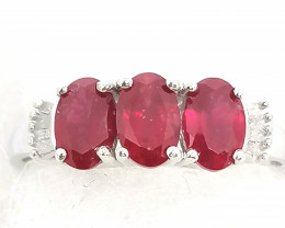 Ruby and Diamond Ring 1.95tcw.