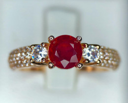 Dazzling~Ruby~Gold/Silver plated~Ring