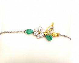 Natural Emerald Bracelat