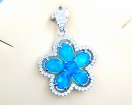 Natural Blue Opal Pendent
