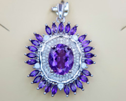 Natural Amethyst Pendent