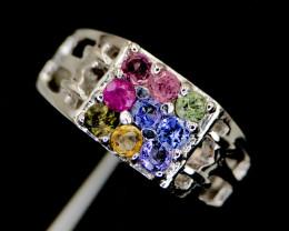 Mesmerizing~Multi color Sapphire~Ring