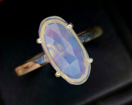 No Reserve Outstanding~Faceted-Opal~Ring