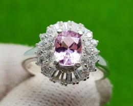 Natural Pink Kunzite (Women Stone) Ring