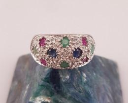 Beautiful Multi Color Stones Ring